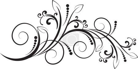 Illustration for Decorative branch - element for design In vintage style - Royalty Free Image