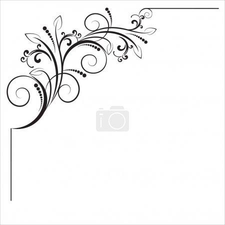 Decorative corner- element for design in vintage style
