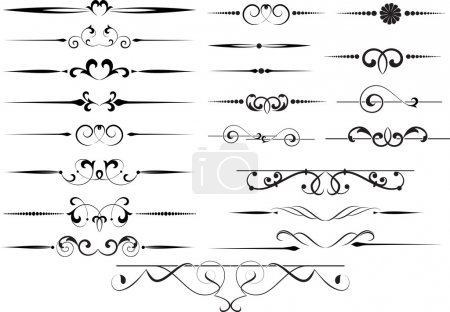 Illustration for Set Of Decorative Elements For Editable And Design - Royalty Free Image