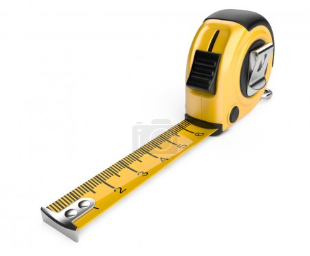 Photo pour Ruban à mesurer. Illustration 3D isolée sur fond blanc - image libre de droit