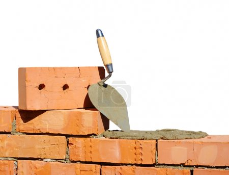 Photo for Tool for laying and bricks for construction - Royalty Free Image