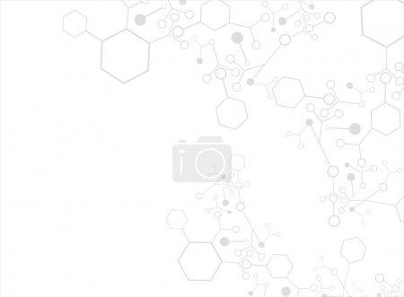 Illustration for Molecule background - Royalty Free Image