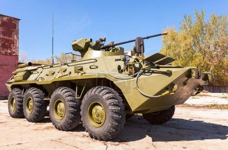 SAMARA, RUSSIA - MAY 8, 2014: Russian Army BTR-82 wheeled armour