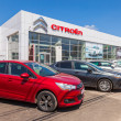Постер, плакат: SAMARA RUSSIA MAY 31 2014: Office of official dealer Citroen