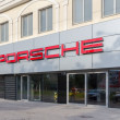 Постер, плакат: SAMARA RUSSIA JUNE 12 2014: Porsche automobile dealership si
