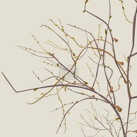 Illustration pour Illustration automne branches mortes en format vectoriel - image libre de droit