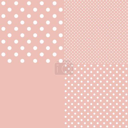 Vintage background from polka dot