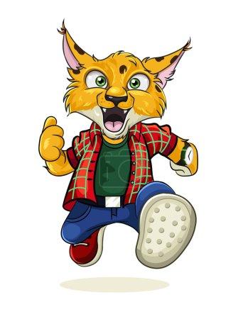 Illustration pour Caractère vectoriel lynx - image libre de droit