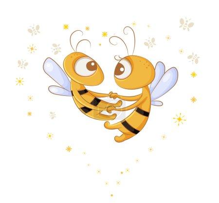 Photo pour Danse dans les airs deux amoureux abeilles - image libre de droit