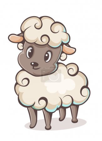 Illustration for Colored lamb character on a white background - Royalty Free Image