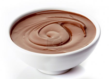 Bowl of chocolate cream