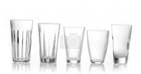 Photo for Various types of juice glasses - Royalty Free Image
