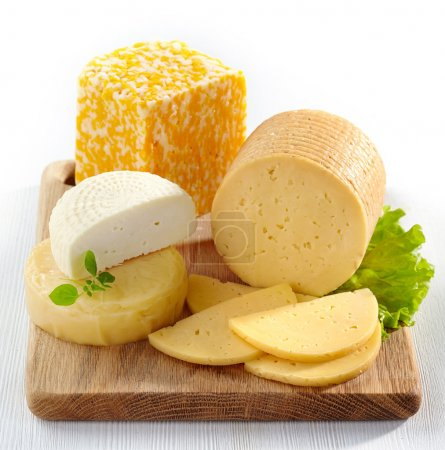 Photo for Various types of cheese - Royalty Free Image