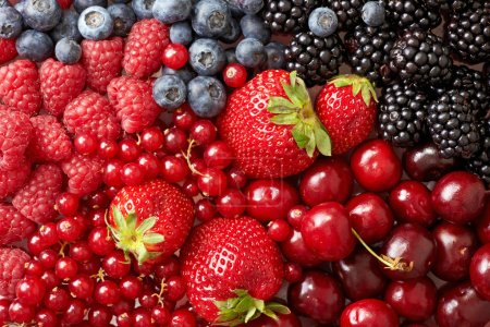 Photo for Various berries background - Royalty Free Image