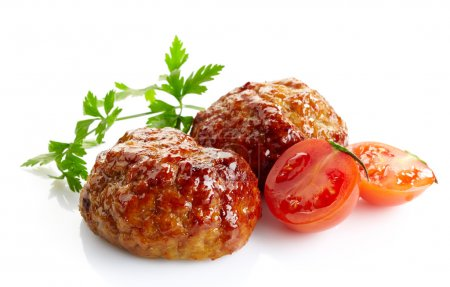 juicy fried meat cutlets
