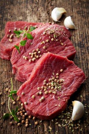 fresh raw meat for steak