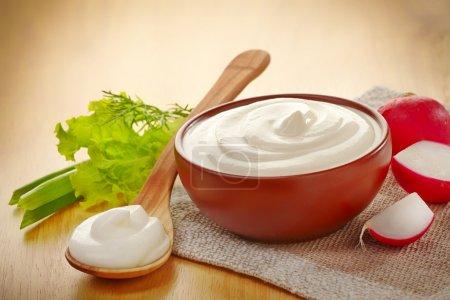 bowl of sour cream