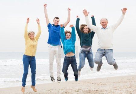 Happy family have fun at vacation