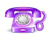 Retro violet telephone