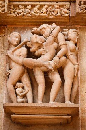Erotic sculptures, Khajuraho, India