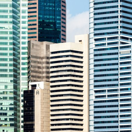 Photo for Urban buildings skyscrapers background. Singapore - Royalty Free Image