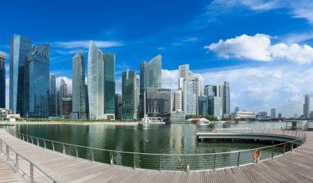 Singapore skyline panorama