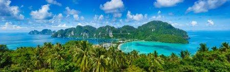 Photo pour Panorama de l'île tropicale. Thaïlande - image libre de droit