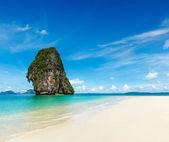 Idyllic beach, sand, sea, sky
