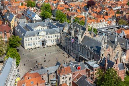 Aerial view of Bruges (Brugge), Belgium