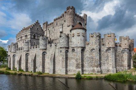 Gravensteen Castle in Ghent, Belgium...