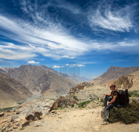 Tourist in Himalayas