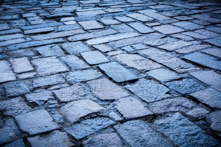Cobblestone pavement background