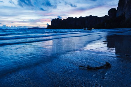 Sunset on Railay beach. Thailand