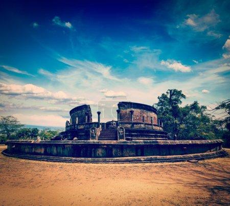 vatadage antique (stupa bouddhiste), sri lanka
