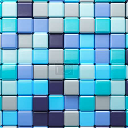 Abstract background of multicolored colorful cubes