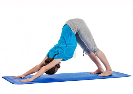 Yoga - young beautiful woman doing yoga asana excerise