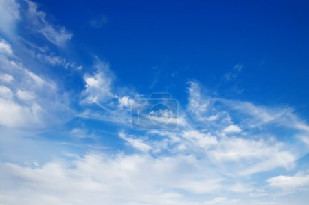 Photo for Sky background with the fluffy white clouds - Royalty Free Image