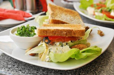 Sandwich in a cafe