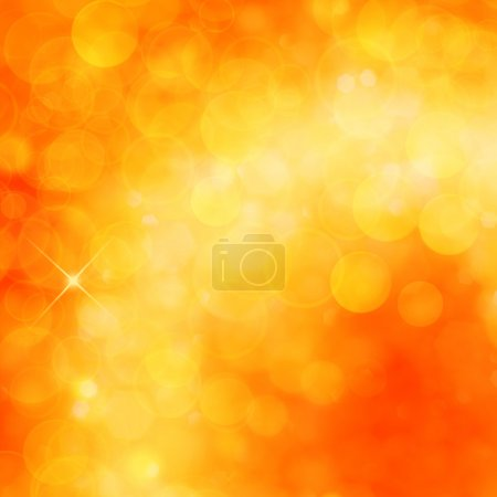 Photo for Christmas shiny background with lights and copy space in golden yellow colors - Royalty Free Image