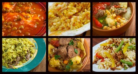 Photo for Food set oriental cuisine.collage - Royalty Free Image