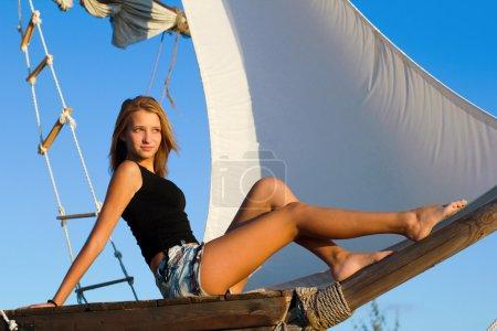 Attractive teen girl