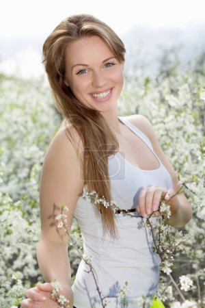 Young smiling blonde