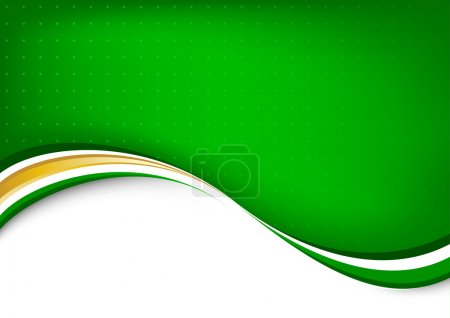 Illustration for Green abstract clean background. Vector illustration - Royalty Free Image