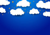 Abstract dream background with clouds