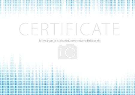 Certificate - blue halftone background