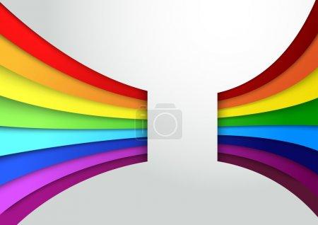 Illustration pour Bannière d'onde arc-en-ciel colorée. Illustration vectorielle - image libre de droit