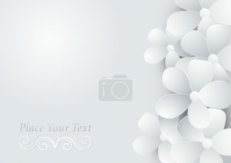 Illustration for Abstract background with flowers. Vector illustration - Royalty Free Image