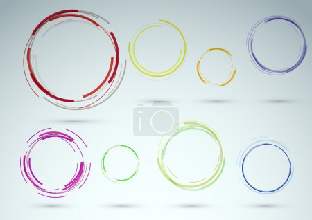 Collection of rings as web design elements. Vector illustration