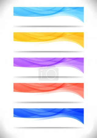 Collection of bright abstract web banners