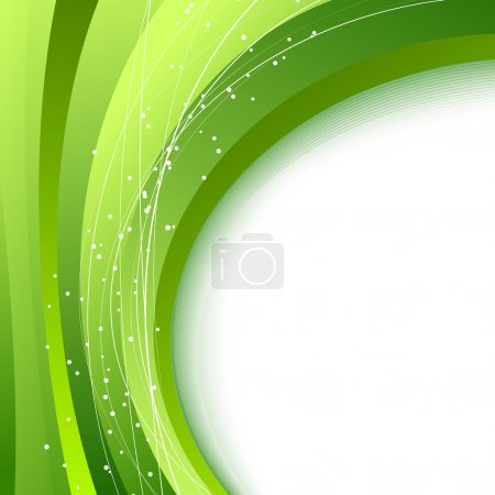 Green waves - abstract fresh spring background